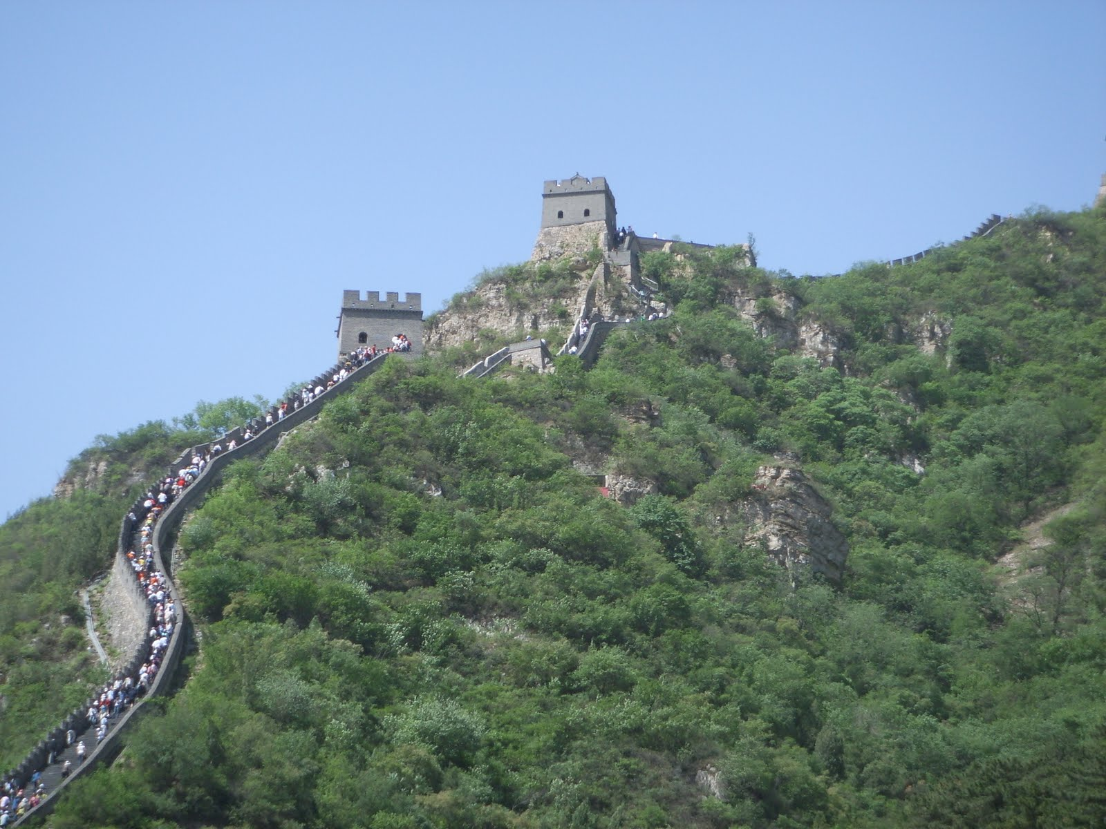 Great Wall of China, China, Tourists climbing