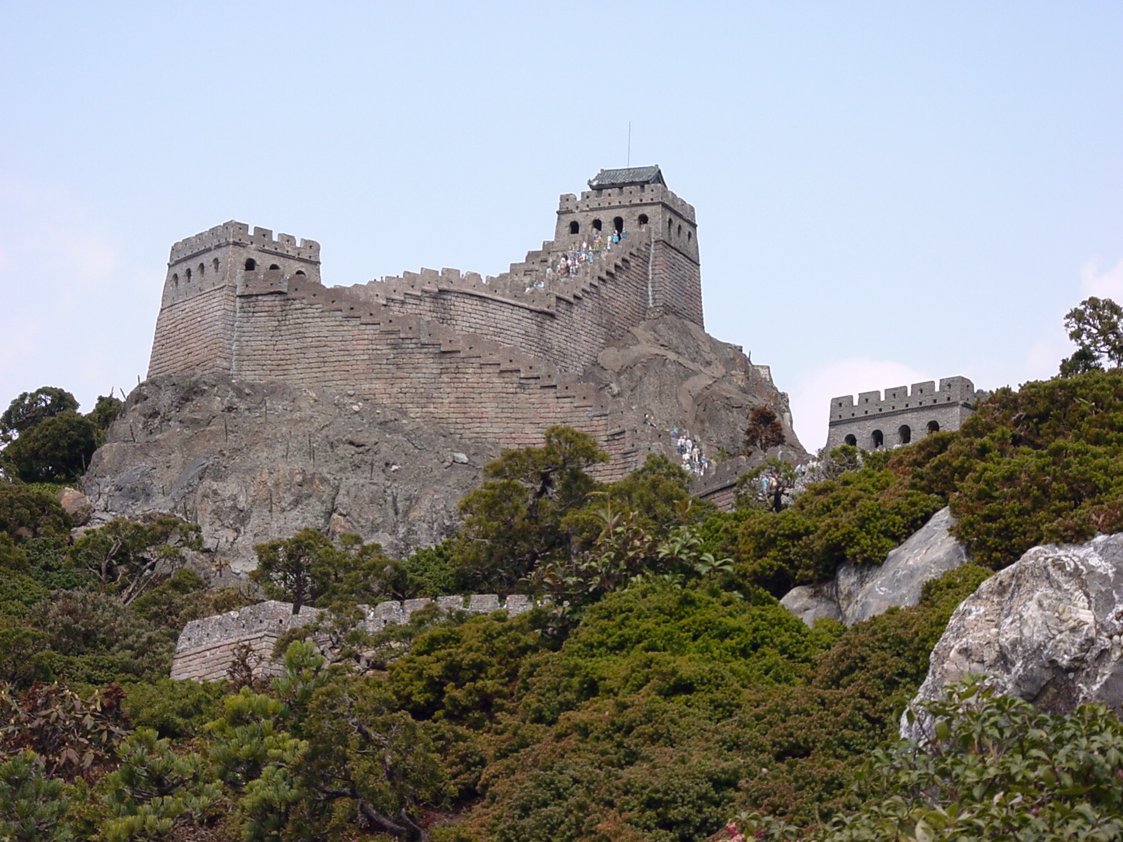 Great Wall of China, China, View from below
