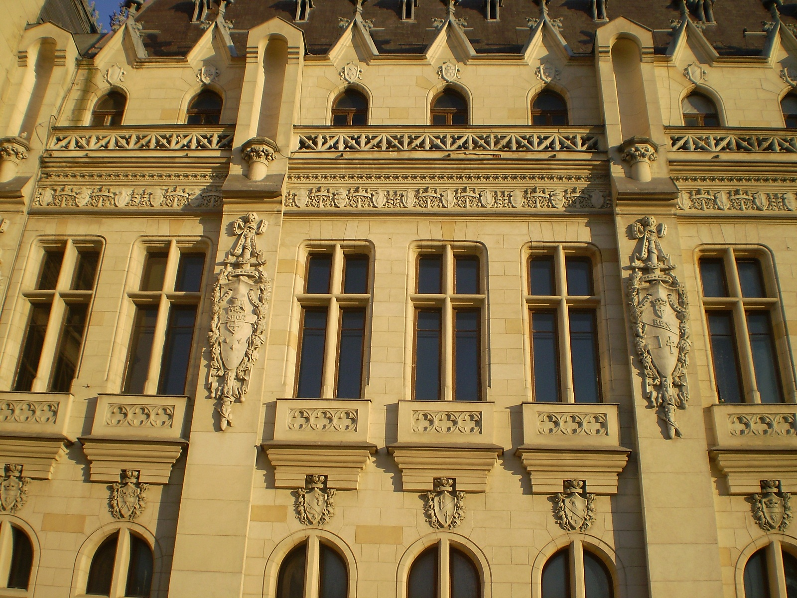 Iasi architecture, Romania, Palace of Culture facade detail