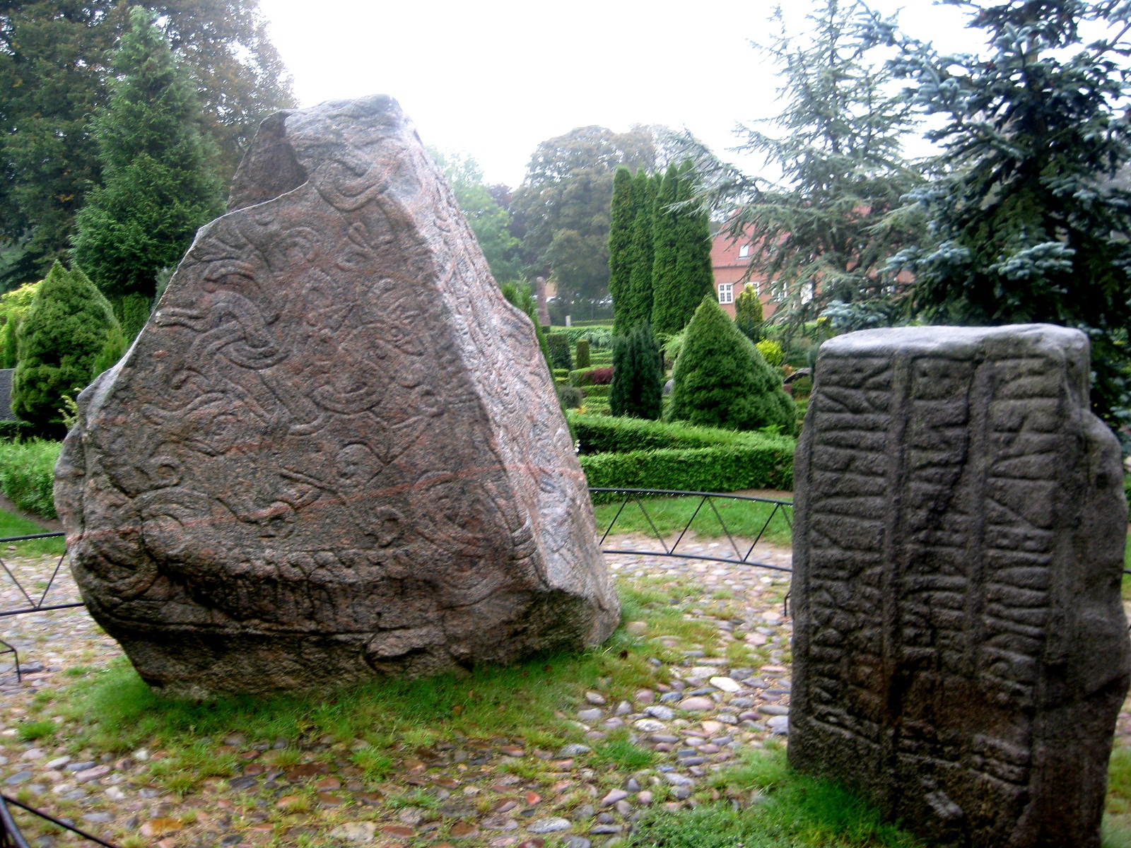 Jelling Stones, Denmark, Side A view