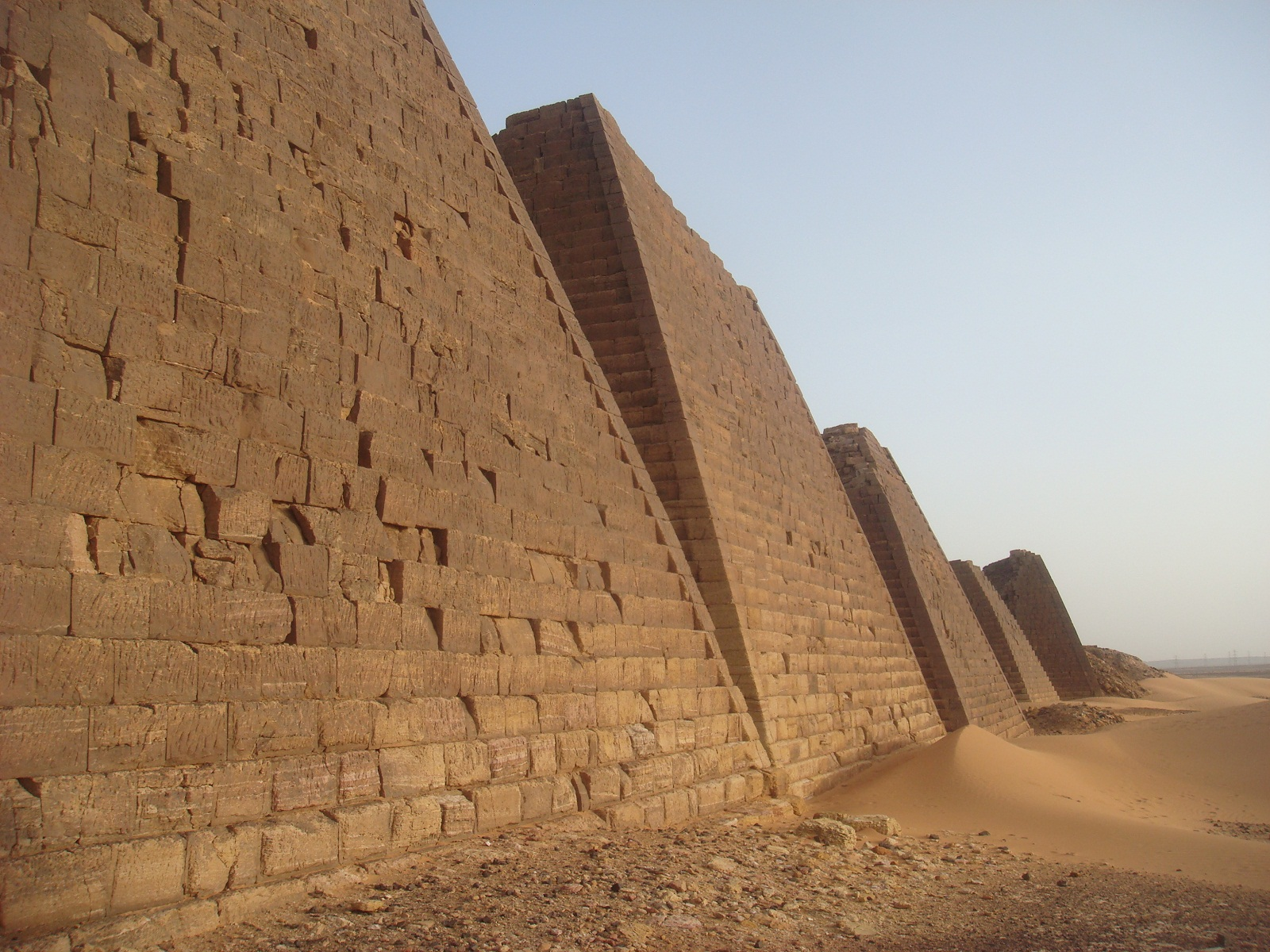 Kerma, Sudan, Meroe pyramids closer view