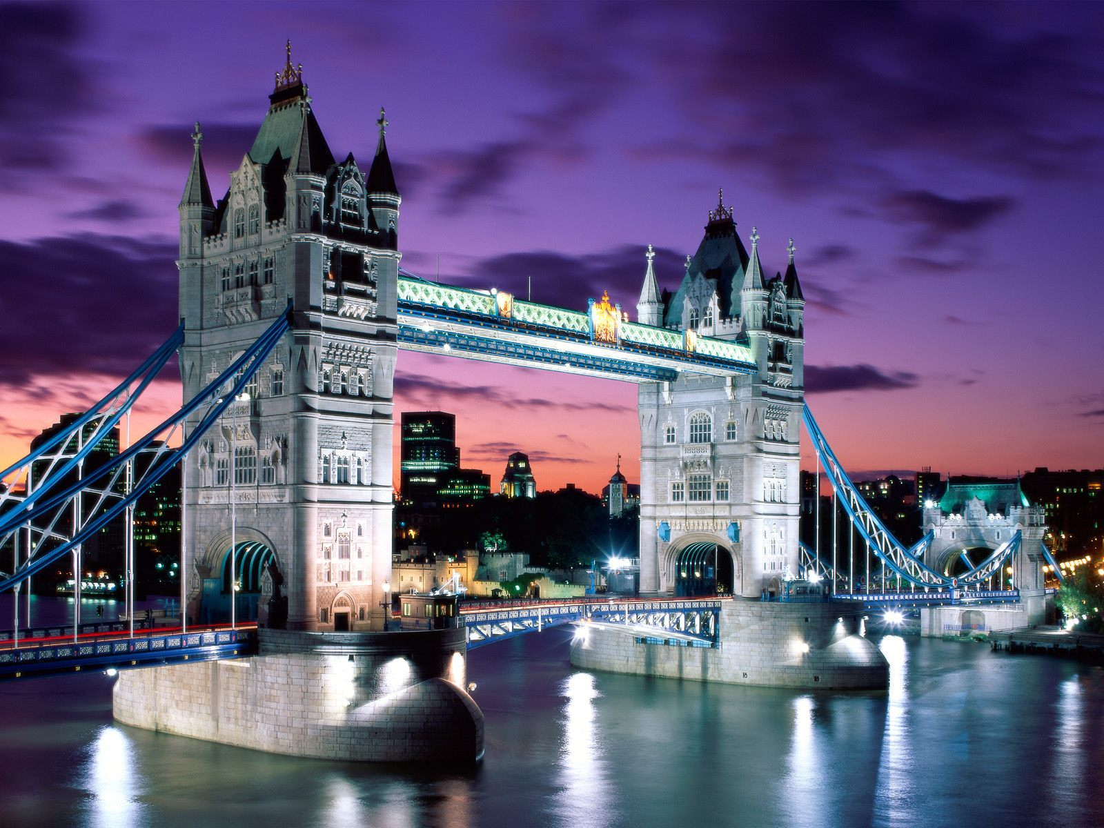 London Architecture, United Kingdom, Tower Bridge at night