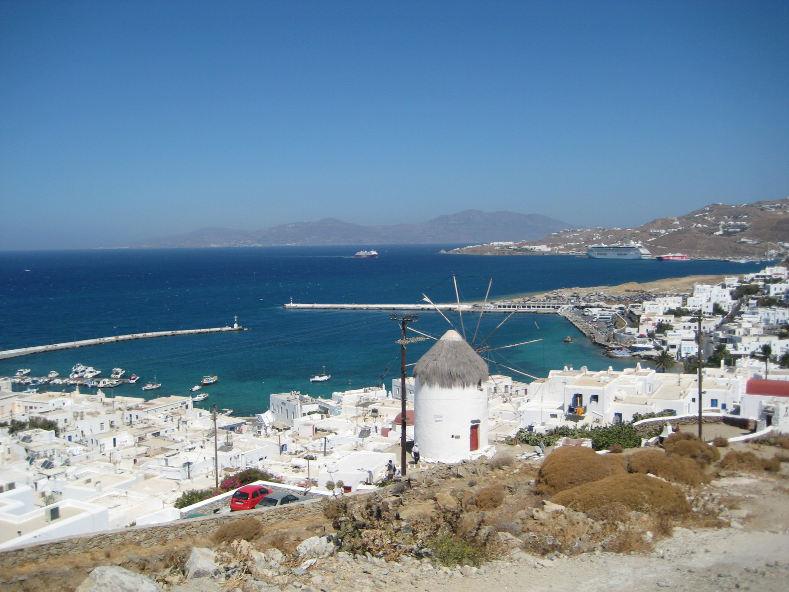 Mykonos, Greece, Seashore oversee