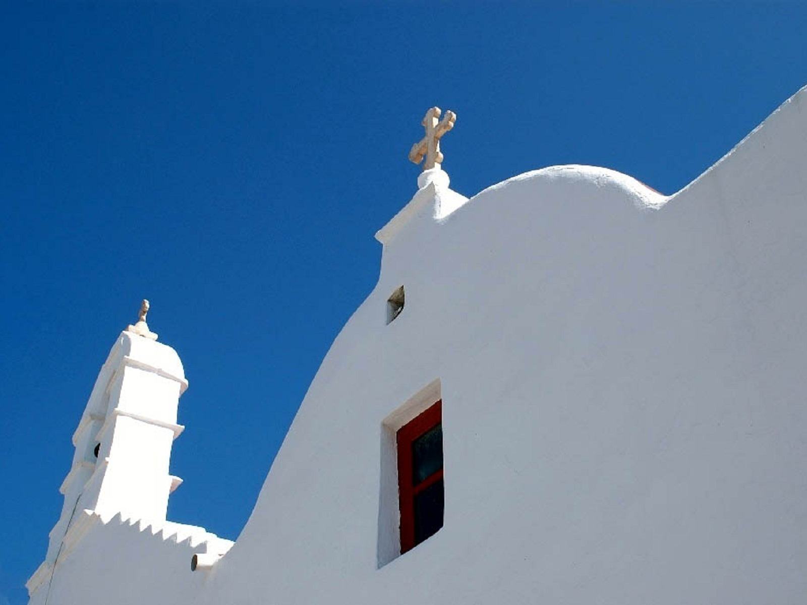 Mykonos, Greece, Church facade