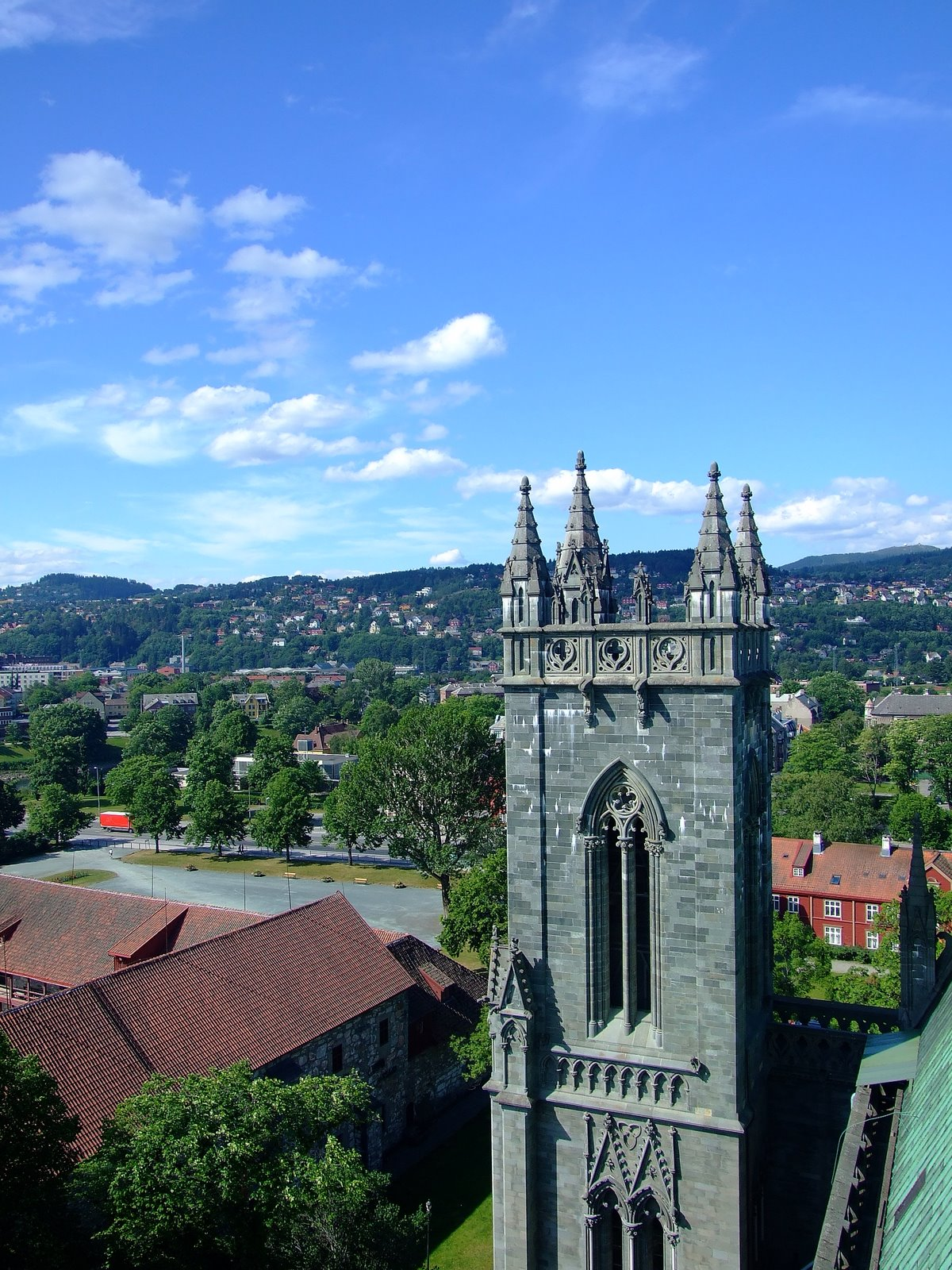 Nidaros Cathedral, Trondheim, Norway, Tower view