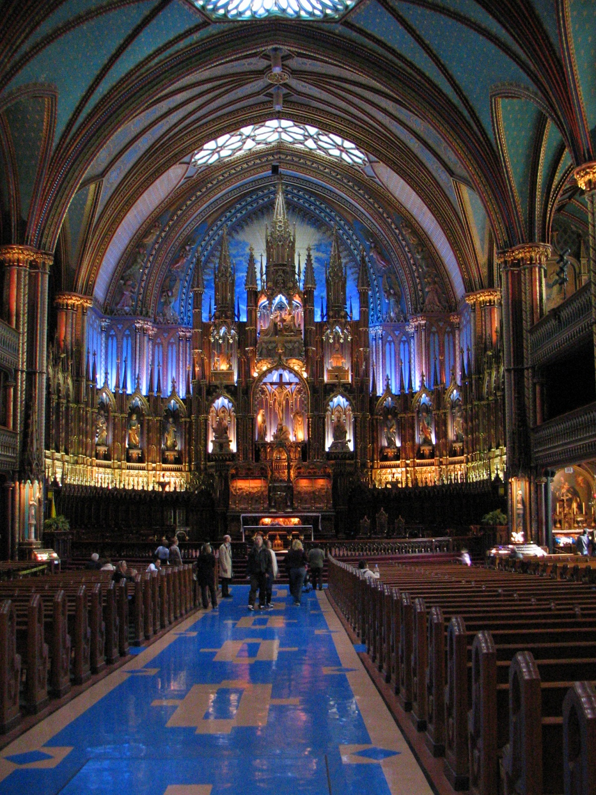 Notre Dame Basilica, Montreal, Canada, Visited by pilgrims