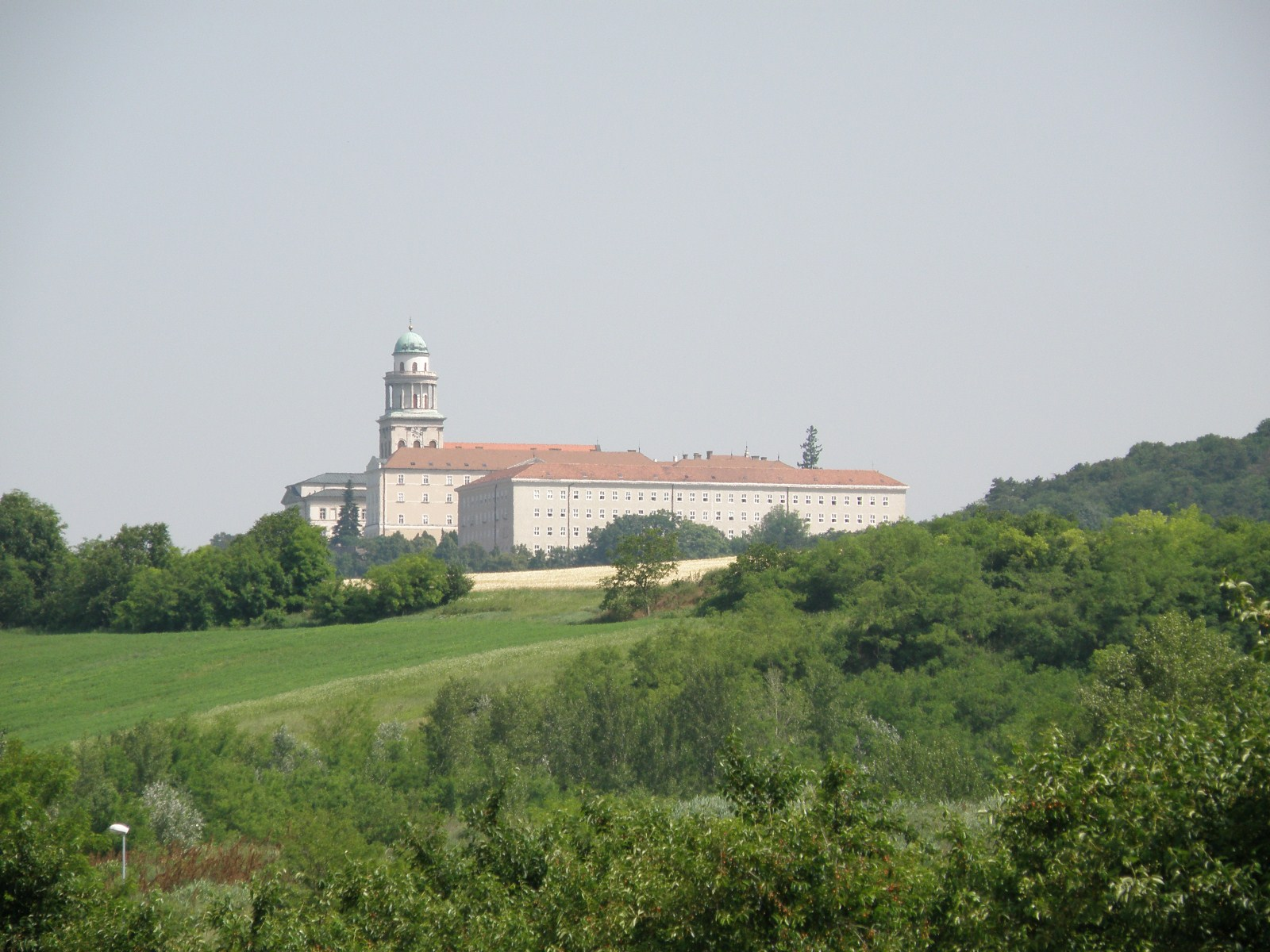Pannonhalma Archabbey, Hungary, Europe, Panorama close view