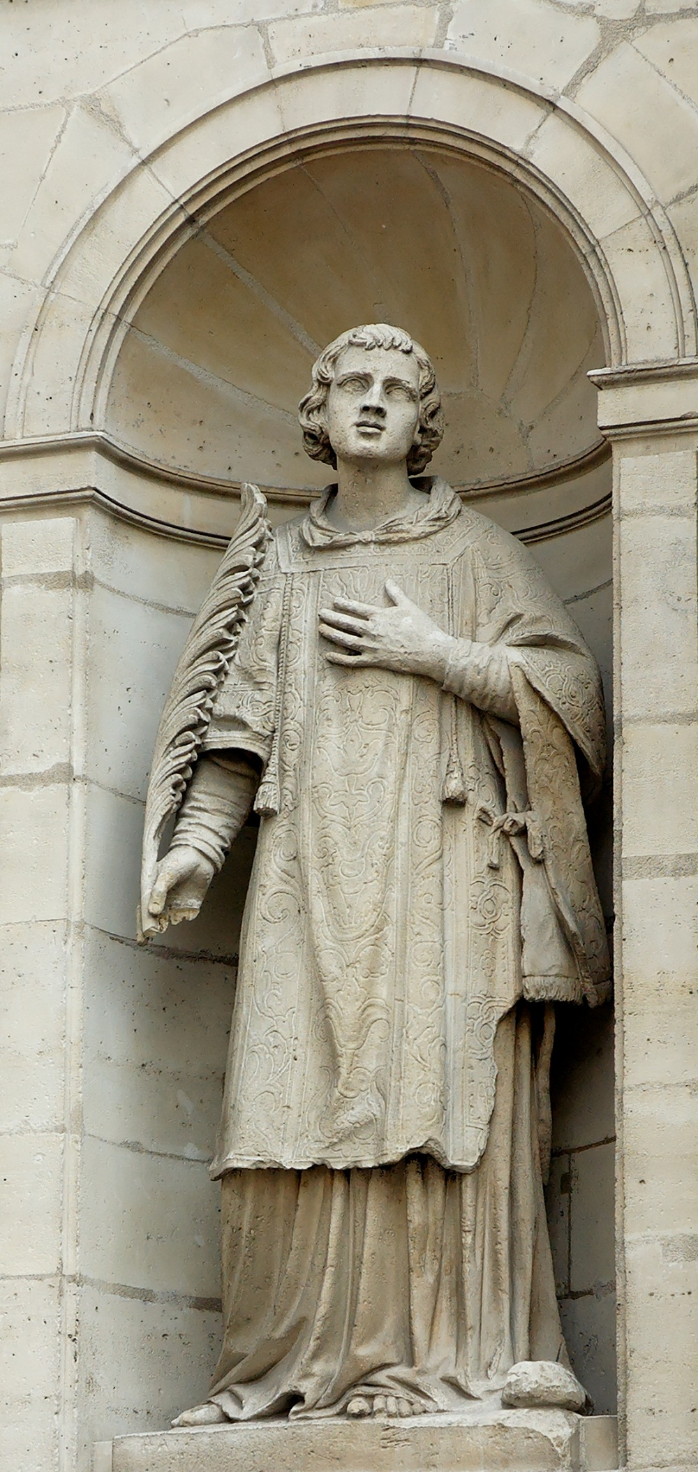Paris Architecture, France, Statue St Stephen at Saint Etienne du Mont Church