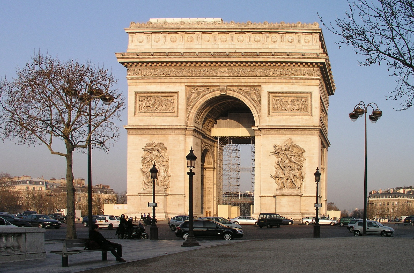 Paris Architecture France Arc De Triomphe 1280