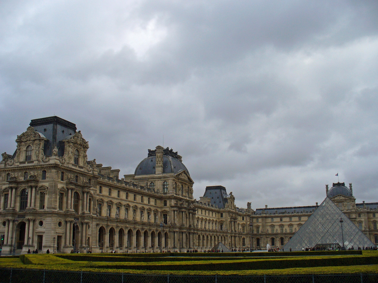 Paris Architecture, France, Le Louvre, Pyramid and Pavillon Sully