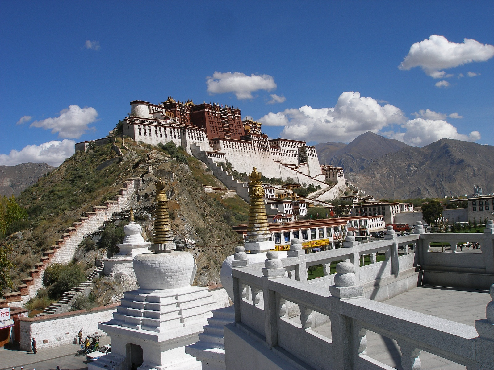 Potala Palace, Tibet, China, Panorama (2)