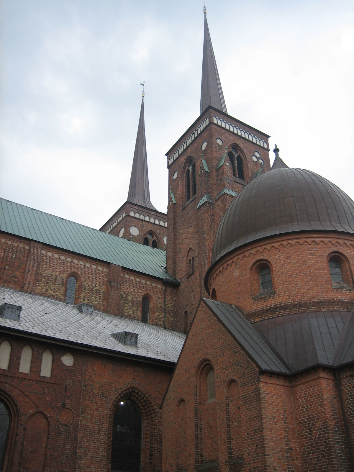 Roskilde Cathedral, Denmark, Europe, Spiked towers