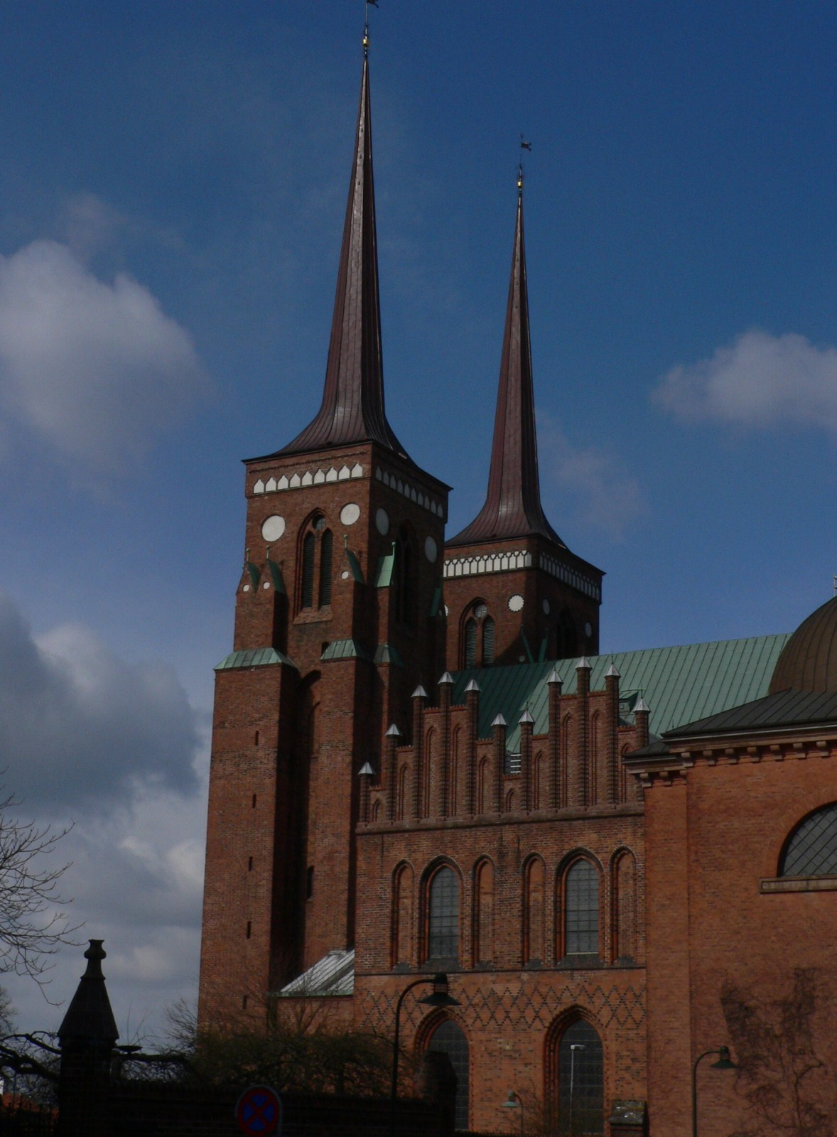 Roskilde Cathedral, Denmark, Europe, Spiked towers overview