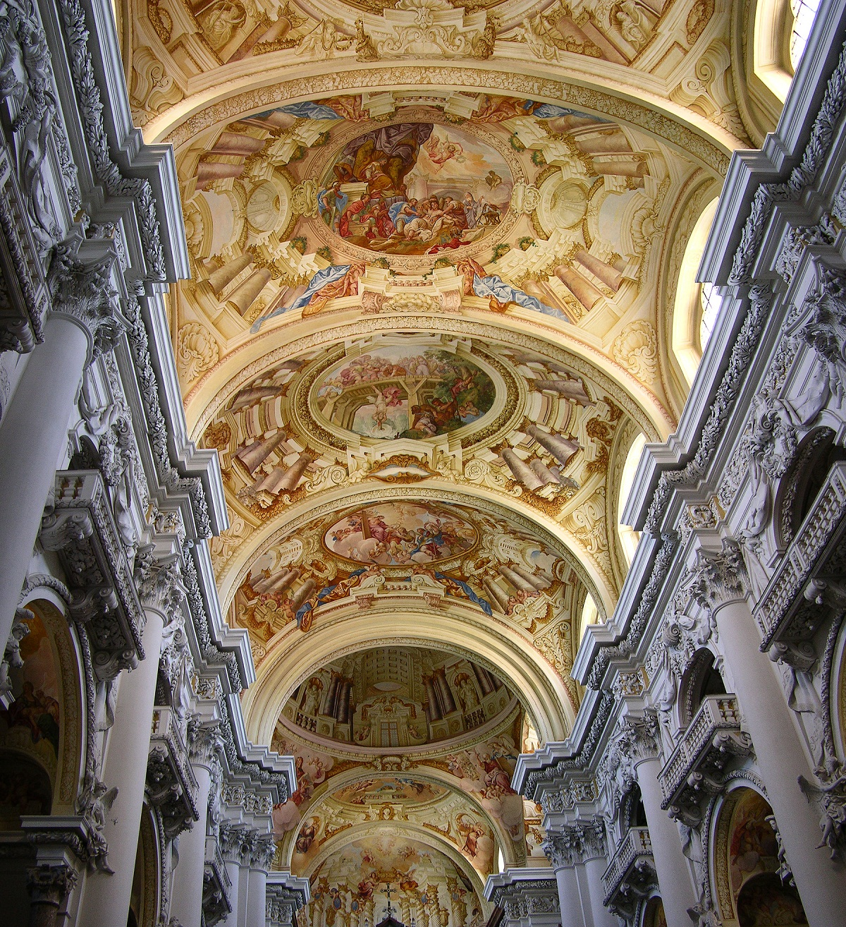 Saint Florian Abbey, Austria, Ceiling architecture and paintings