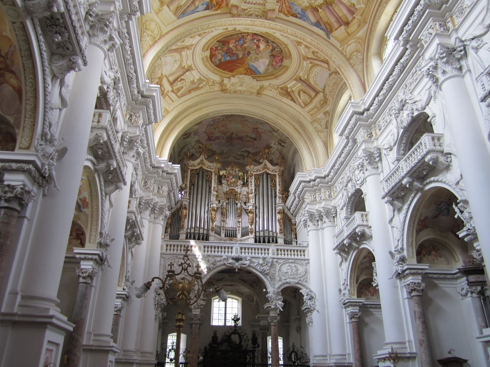 Saint Florian Abbey, Austria, Organ and ceiling view
