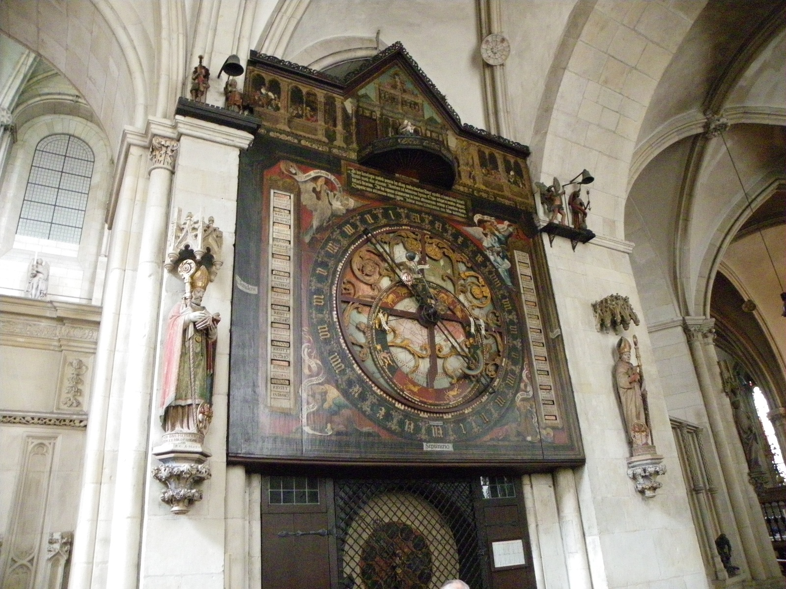 Saint Paulus Dom, Munster, Germany, Interior sundial