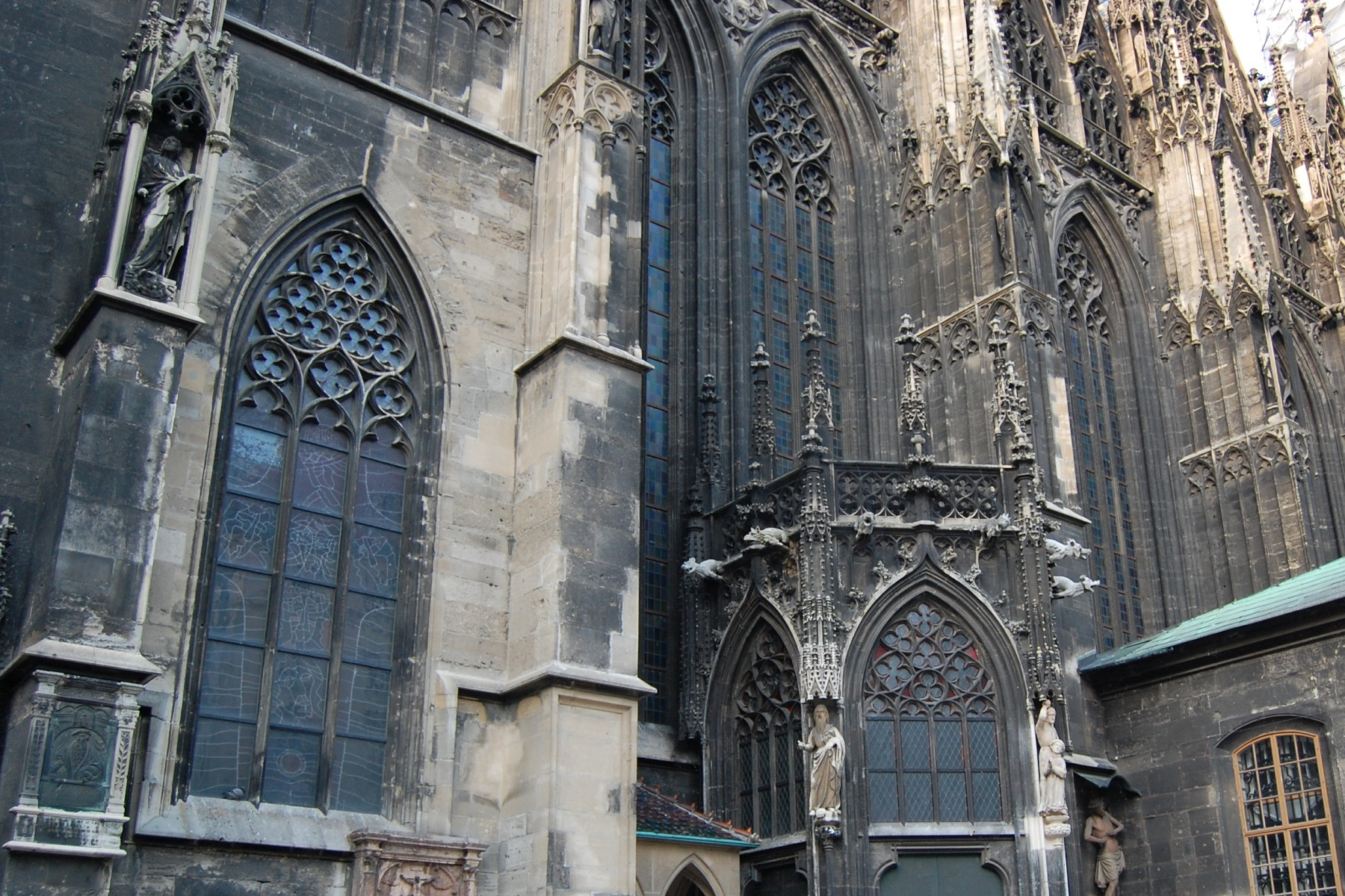 St Stephan Cathedral, Vienna, Austria, Windows outside view