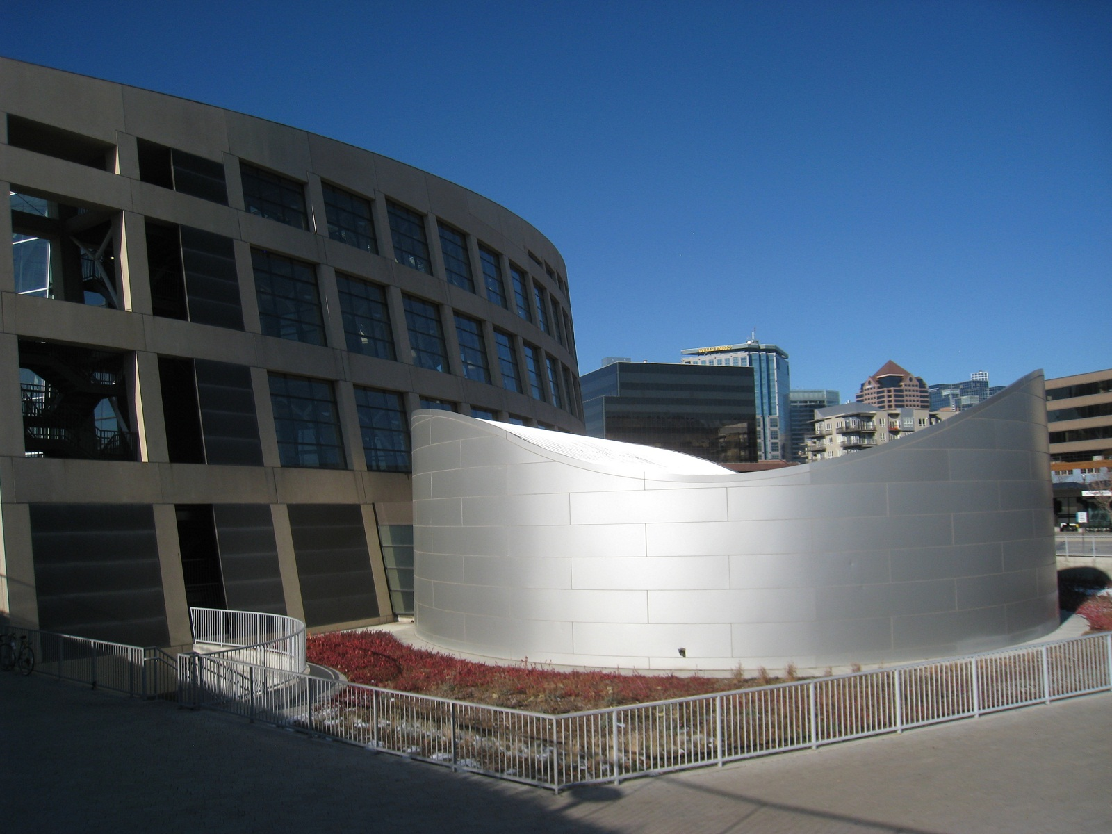 Salt Lake City, USA, Public Library side view