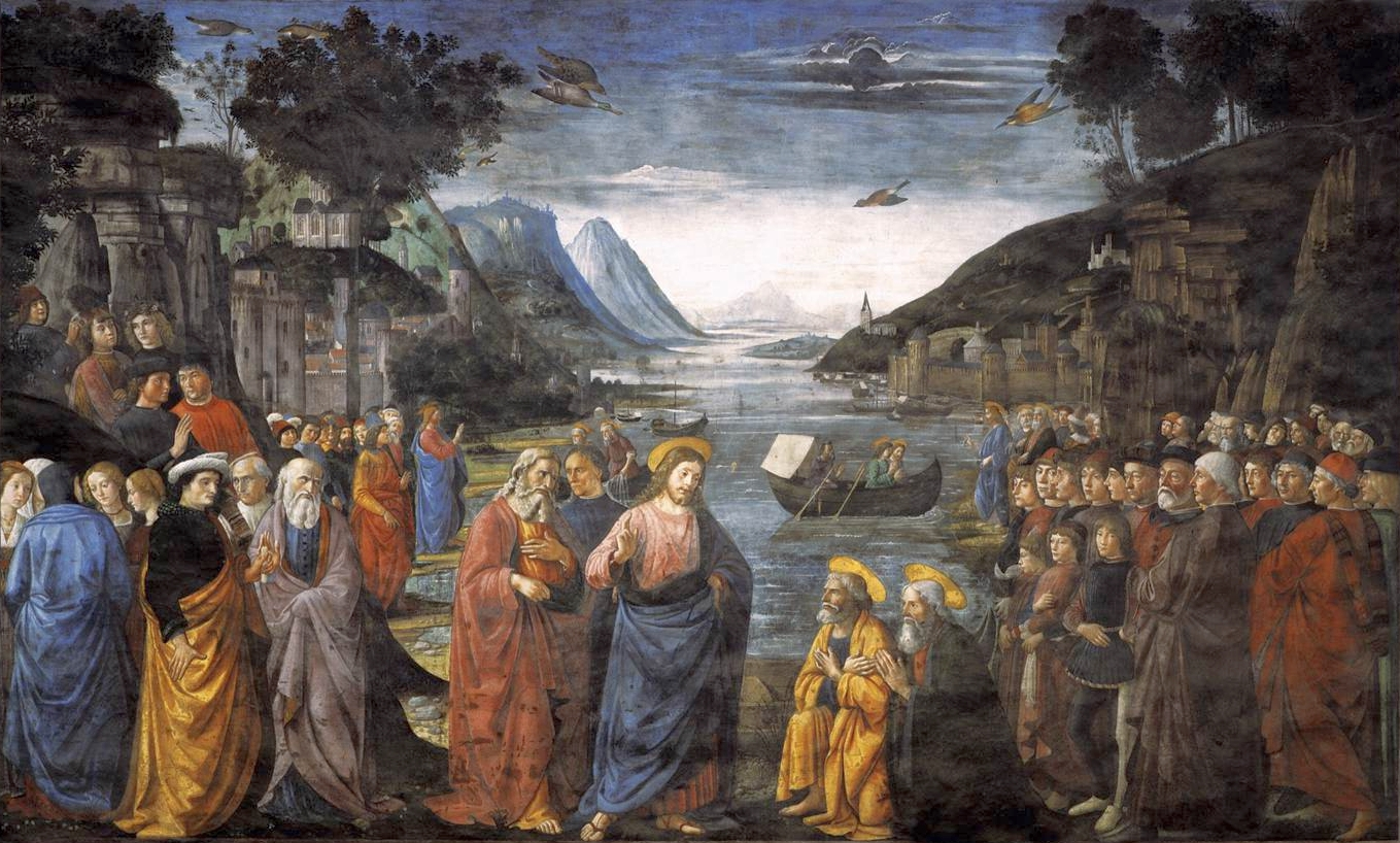 Sistine Chapel, Vatican, Domenico Ghirlandaio, Calling of the Apostles