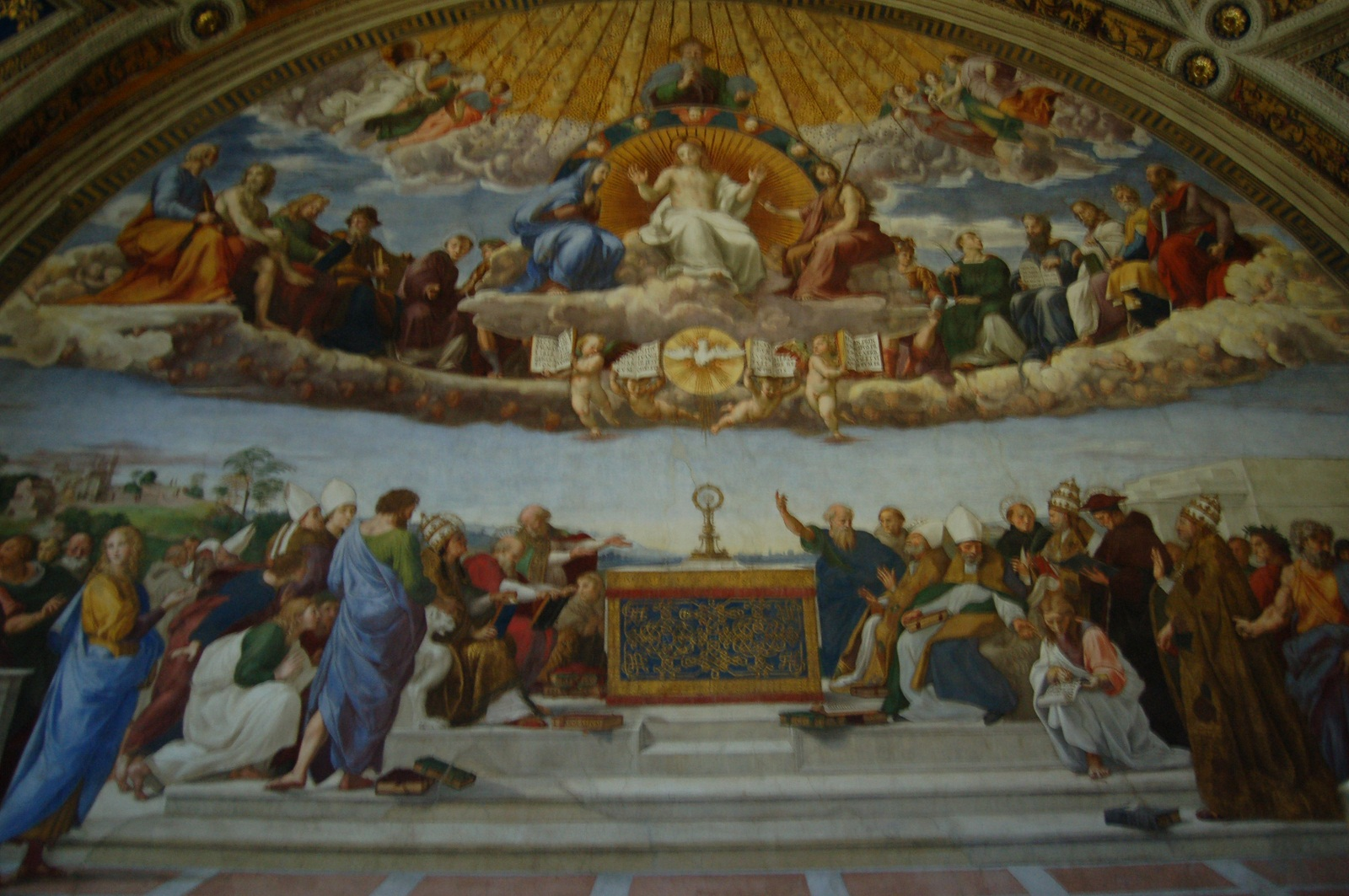 Sistine Chapel, Vatican, Raphael fresco, The School of Athens