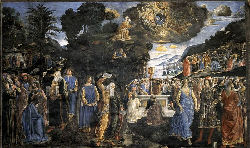 Sistine Chapel, Vatican, Cosimo Rosselli, Descent from Mount Sinai