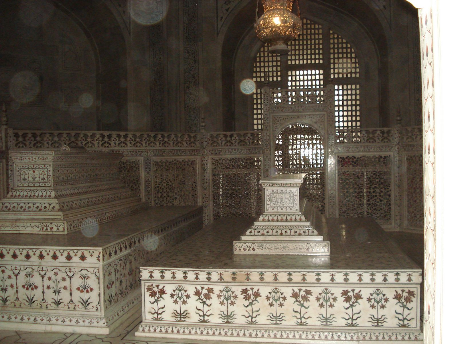 Taj Mahal, India, Interior architecture detail