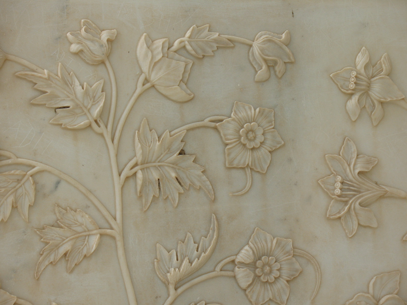 Taj mahal india flowers relief detail 588 :: world all details