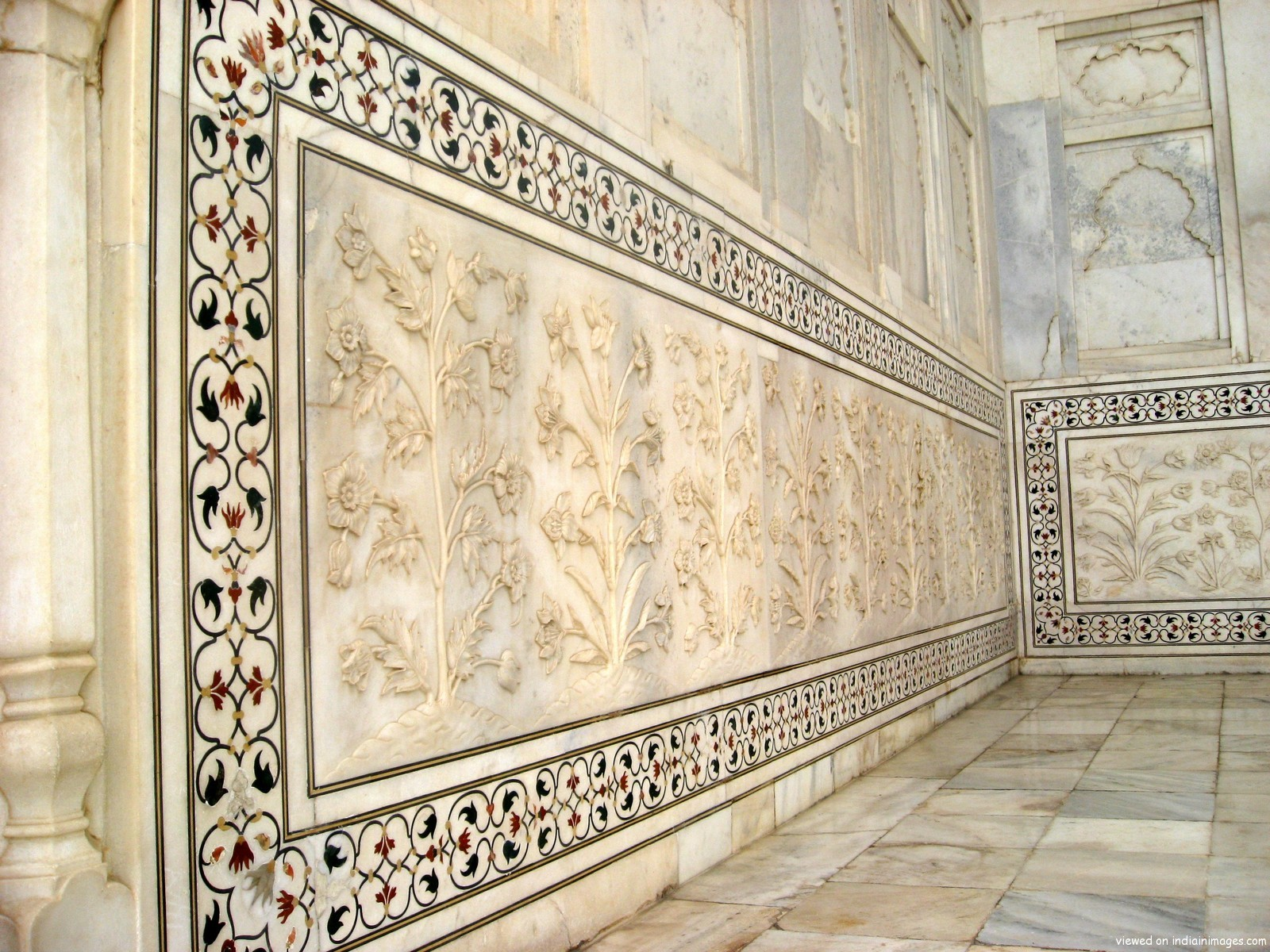 Taj Mahal, India, Wall Detail
