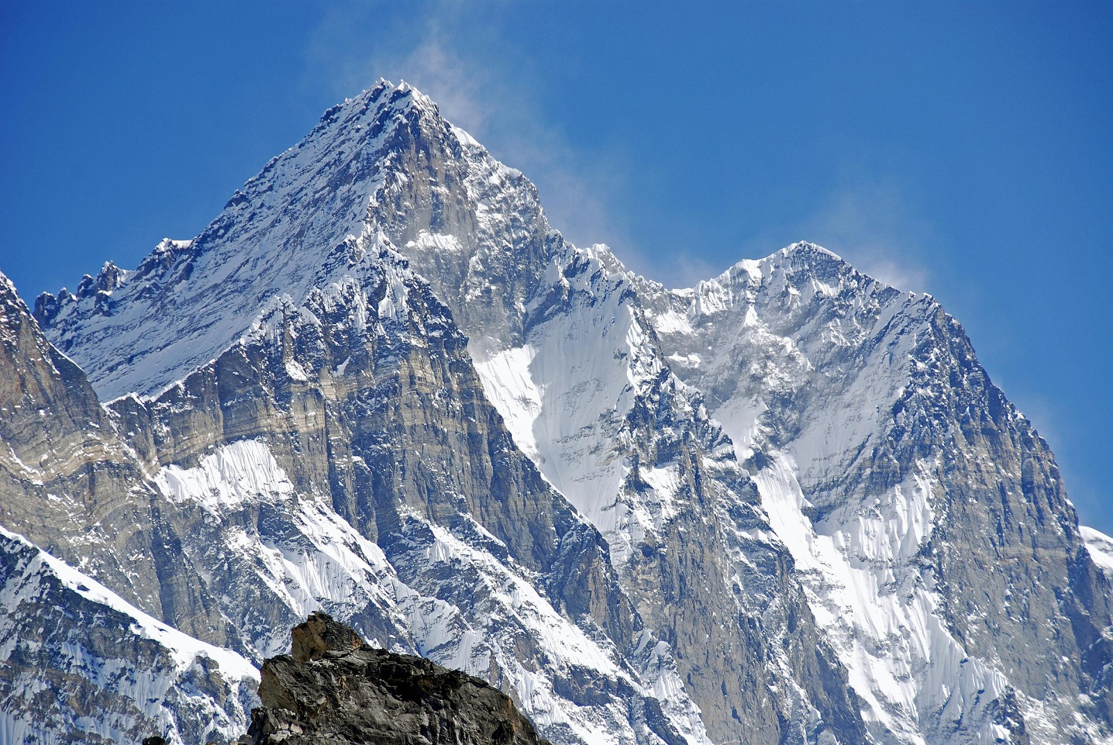 Tallest Mountains, Mount Everest, Lhotse, West face closeup