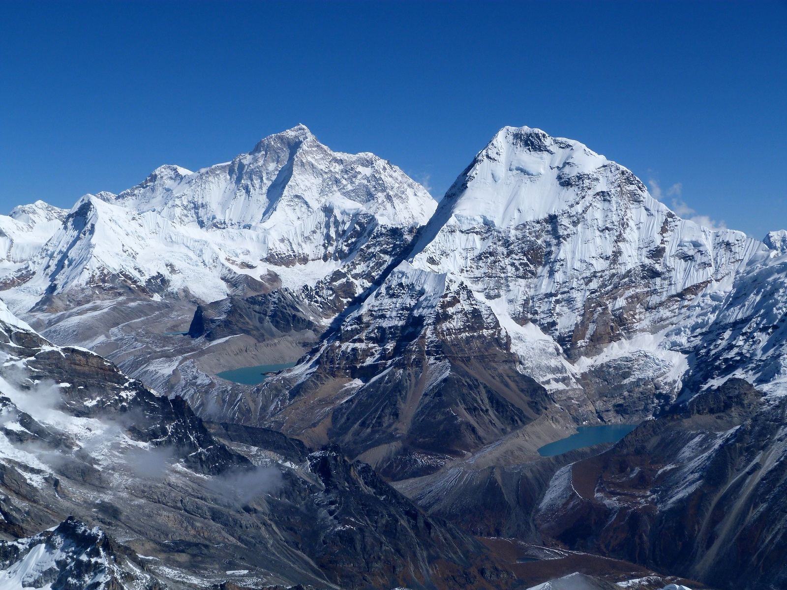 Tallest Mountains, Makalu and Chamlang, Everest, Panorama peak view