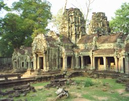 Ta Prohm, Angkor, Cambodia, Architecture overview