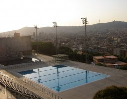 Barcelona Architecture, Spain, La Piscina Municipal de Montjuic