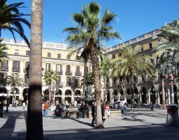 Barcelona Architecture, Spain, Placa Reial