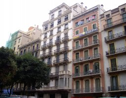 Barcelona Architecture, Spain, Eixample Street