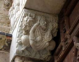 Basilique Saint Sernin, Toulouse, France, King David relief