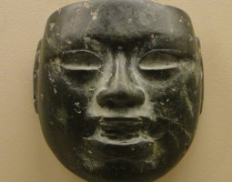 British Museum, London, England, Olmec Stone Mask