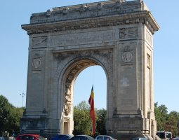 Bucharest Architecture, Romania, Arc de Triomphe