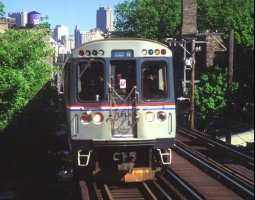 Chicago, USA, City train