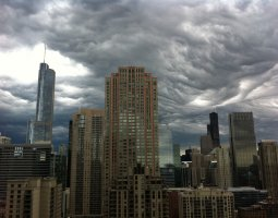 Chicago, USA, Undulatus Asperatus clouds above the city