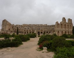 El Djem, Tunisia, Amphitheatre ruins outside view