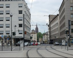 Frankfurt Architecture, Germany, Tram way