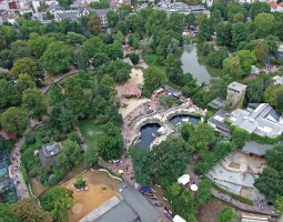 Frankfurt Zoo, Germany, Aerial view