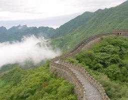 Great Wall of China, China, On cloudy day