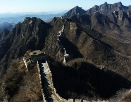 Great Wall of China, China, Aerial view