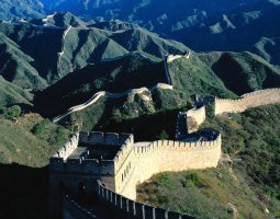 Great Wall of China, China, At sunrise