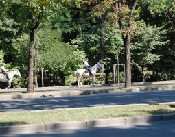 Herastrau Park, Bucharest, Romania, Police on horseback