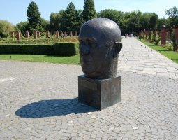 Herastrau Park, Bucharest, Romania, Statue Head on EU Square (4)