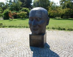 Herastrau Park, Bucharest, Romania, Statue Head on EU Square (2)