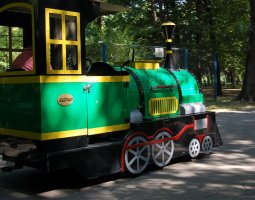 Herastrau Park, Bucharest, Romania, Wattman locomotive