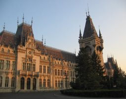 Iasi architecture, Romania, Palace of Culture overview